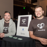 Scott and Andrew at Tachyon Demo Day in San Francisco